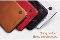 Nillkin New product Qin Stylish Ultra Thin Flip Luxury Leather hard plastic back cover Cases for HTC One E9 Plus