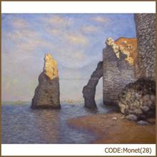 Grandmaster Monet simple stone oil painting of Rock Arch West of Etretat