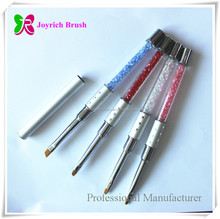 Manufacturer nail supplies kolinsky nail gel brush for gel polish