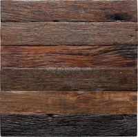 New style old boat wood mosaic wall covering for interior decoration