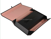 collapsible paper boxes with silver metallic logo printing