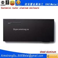 XAX451Alu OEM ODM customized laser cut bend weld sheet aluminum lite erlite 3 512mb 3 Ethernet ports Router enclosure