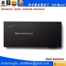 XAX451Alu OEM ODM customized laser cut bend weld sheet aluminum lite erlite 3 512mb 3 Ethernet ports Router enclosure