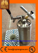 High quality 2L growler, mini keg with keg spear