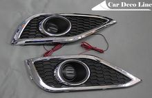 Chrome change foglight cover with LED for Honda CRV 2012