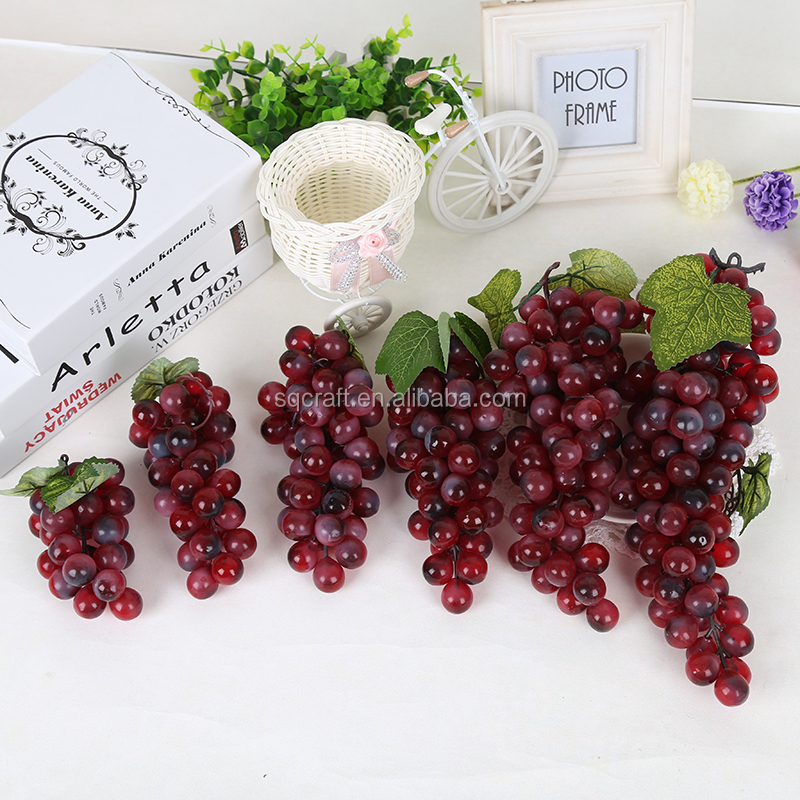 2015 wholesale decorative artificial grapes for display for Buy grape vines for crafts