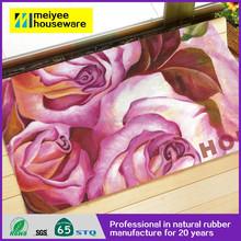 Meiyee cheapest professional natural rubber flocked kitchen mats