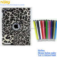 Rotating case For iPad air, with touch pen and screen protector