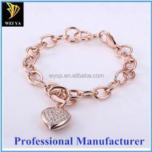 Dongguan manufacturer O Shape link Gold plated Fashion Jewelry Bracelet
