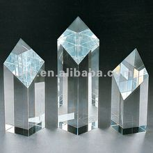 Machine Cut Blank Crystal Cubes for Engraving