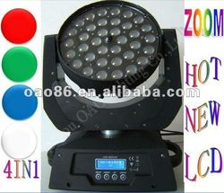 Manufacture supply 36pcs*10W RGBW 4in1 led moving head zoom