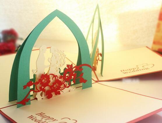 Corte A Laser 3D Aniversário Cartão Cartão Feito Sob Encomenda