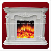 Carved Marble Japanese Style Fireplace