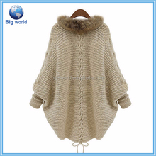 Solid cardigan autumn new women's knitted sweater, cotton sweater coat cloak money