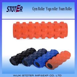 PU foam roller with EVA inside , hard grid foam roller