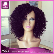 brazilian hair kinky curly nature color full lace wig wholesale cheap brazilian vrigin human hair full lace wig with baby hair