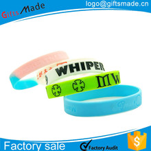 Customized glow in the dark Silicone bracelets,splendid rubber wristband,custom LED Bracelet
