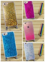 PC Material Bling Bling Quicksand Mobile Phone Case Cover for iphone 6 plus