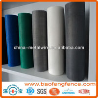Fire Proof Pleated Invisiable Plastic Coated Window Fiberglass Insect Screen (Factory &Exporter)