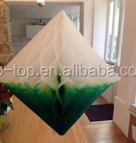 Elegant New Design Party Paper Honeycomb Decoration with many colors,Hanging Diamond Decoration