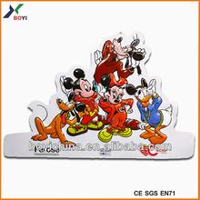 Nuevo producto, graciosos afiches 3D de animales de caricaturas, lechuzas grabadas en relieve, afiche 3D en PVC promocional para publicidad de alimentos
