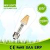 Top quality high lumen efficiency globe shape st64 led filament bulb dimmable 8w