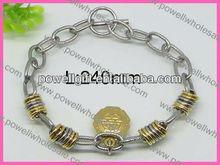 joyería de moda de nuevo producto de plata tibetana retro tallada cuentas vinculados pulsera de cuentas de la