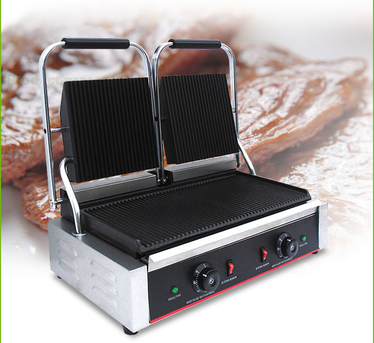 Industrial Electric Grill ~ Hot sale commercial electric contact grill sandwich press