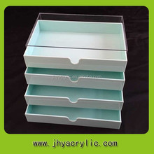 moderate volume 4 tiers comestic organizer/makeup display drawer/cosmetic box with drawer