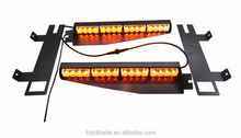 Amber 12V led strobe lights, Interior lightbar, front dash light with 15 flash patterns