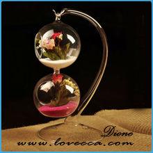 christmas decoration vase / cheap hand blown glass vases / ball shape hanging flower vase