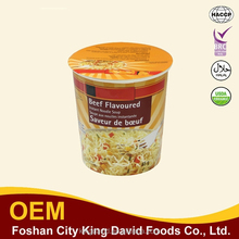 Italian style 65g cup instant noodles / boilednoodles with black pepper beef 65g
