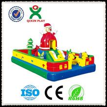 inflatable double lane slip slide/ 1000 ft slip n slide inflatable slide the city QX-116E