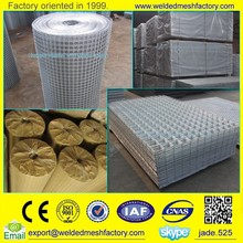 Hot dipped 2x2 galvanized welded wire mesh panel and roll