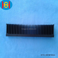 black anodized extruded led aluminum profile
