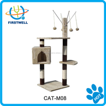Best quality indoor cat tree house & cat tree sisal scratcher/cat toy /cat house