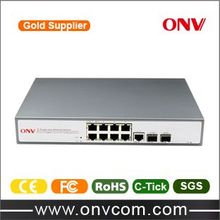 8 port PoE switch with 10/100M PoE switch Network management