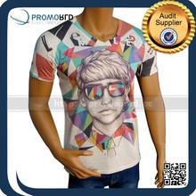 2015 promotional men t shirt custom t-shirt printing