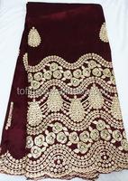 wholeslae raw silk george/african beaded george fabric