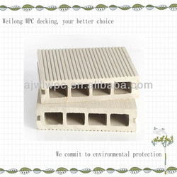 White wood plastic composite hollow ribbed wpc decking