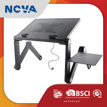 High quality folding aluminum alloy cooling fan laptop stand odm