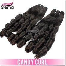 Aliexpress wholesale high quality virgin brazilian candy curl hair
