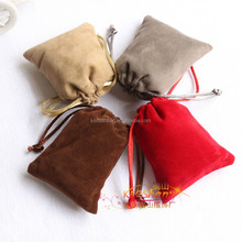 Double Sides Flocking Drawstring Pouch Mobile Phone Bags Wedding Favour Gift Bag