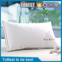 Brand new down feather cotton fabric hotel pillow whosale pillow / pillow case