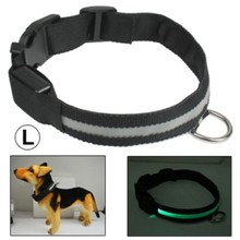 Promotional Gifts Adjustable 3-Mode LED Flashing Dog Collar