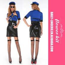 High Quality Hot sexy Under Arrest Cop Costume Women sexy Halloween costumes