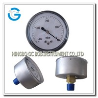 High quality stainless steel case brass internal vacuum meter