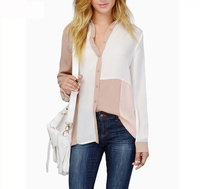 long sleeve western blouses patch work in blouse neck designs