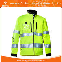 Waterpoof High visibility Reflective Winter Warm Sports Jacket