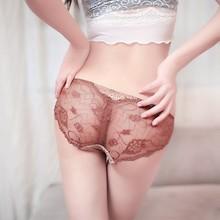 DK401 Women Sexy Lace Mesh V-string Briefs Panties Thongs G-string Lingerie Underwear